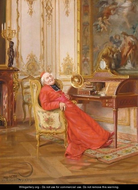 Une Interlude Musicale - Alfred Charles Weber