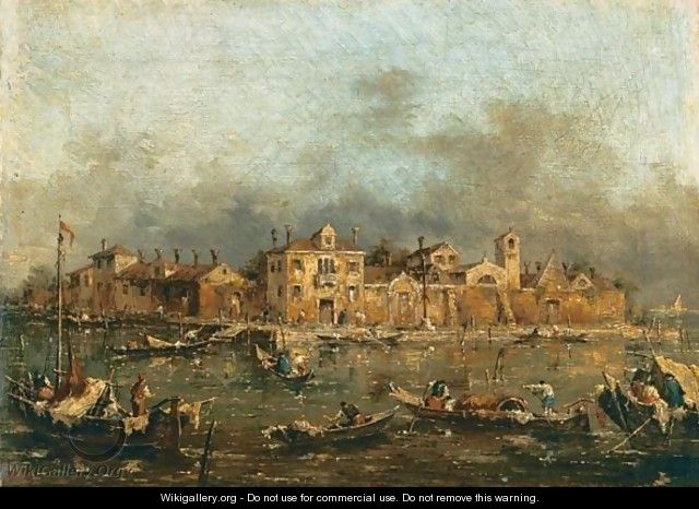 Veduta Della Laguna Veneziana - (after) Francesco Guardi