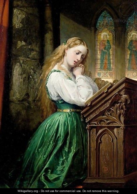 Margaret At The Cathedral, Faust - Thomas Jones Barker