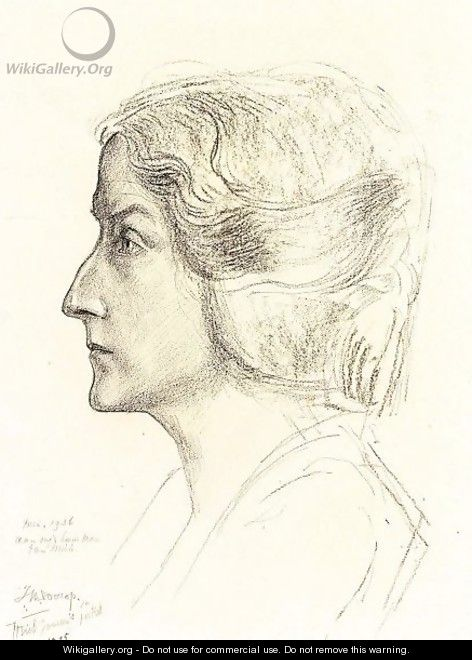 Portrait Of Miek Janssen - Jan Toorop