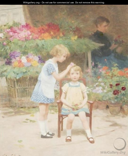 Adorning The Little Sister - Victor-Gabriel Gilbert