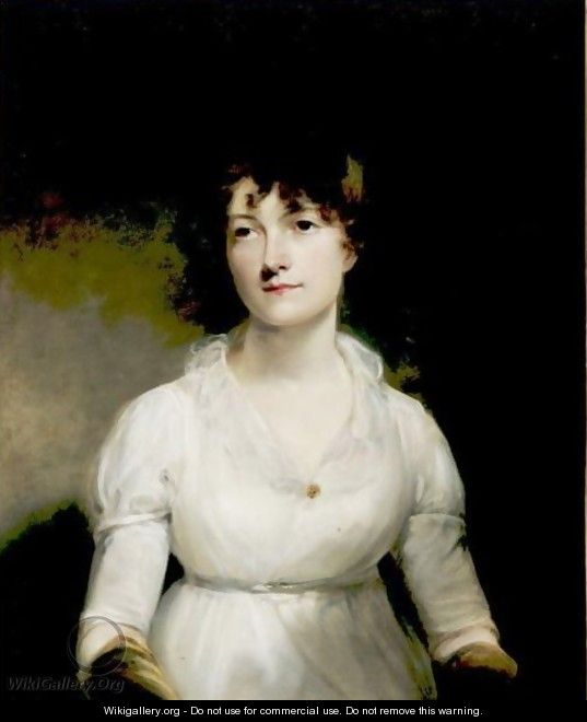Portrait Of Miss Fellows - (after) Of William Owen