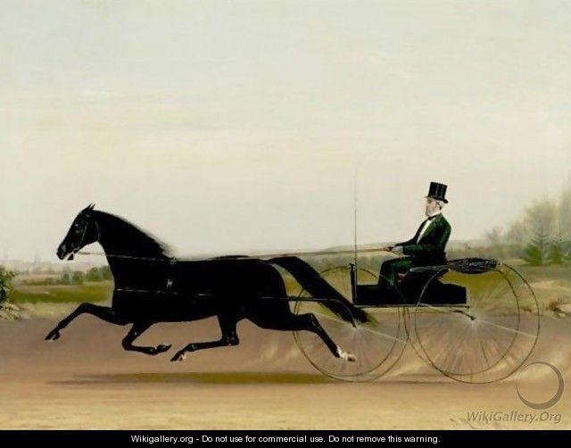 A Trotter And Sulky - James J. Mcauliffe