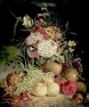 Still Life With Flowers And Fruit - Continental School