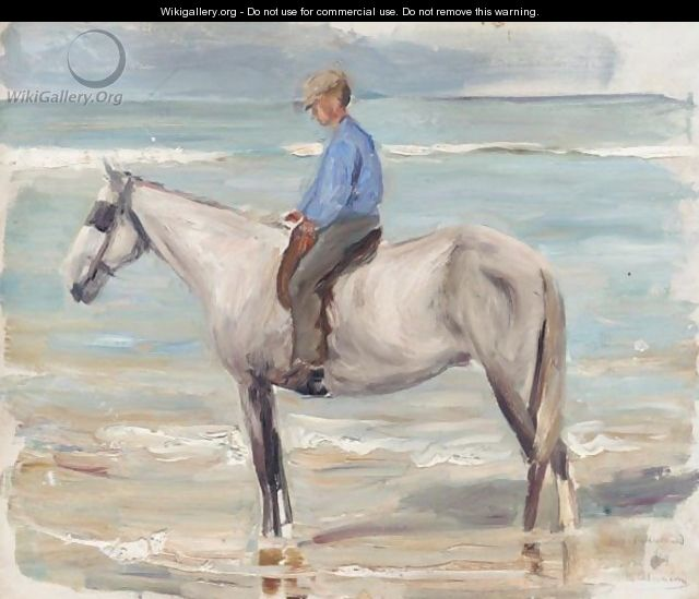 Reitender Knabe Am Meer (Boy Riding By The Sea) - Max Liebermann