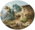 Scenes Animees Dans Un Parc - (after) Hubert Robert