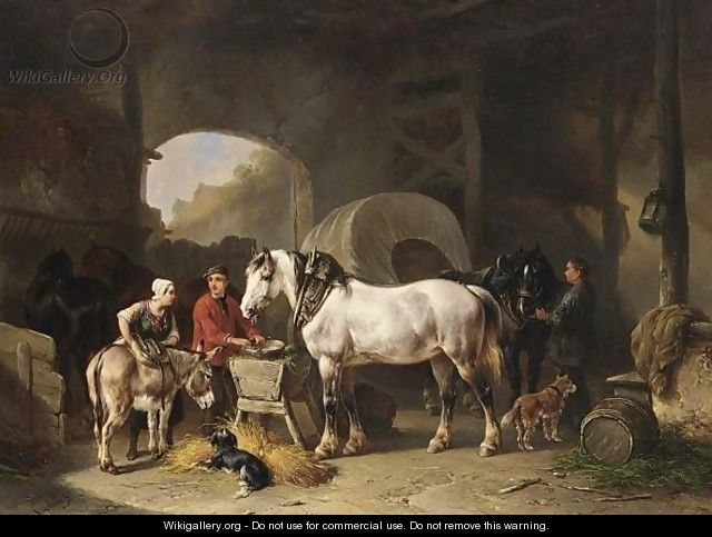 Tending The Horses - Wouterus Verschuur