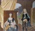 Portrait Of A Nobleman And A Portrait Of His Family - German School