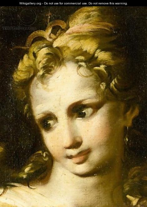 Study For The Head Of A Young Girl - (after) Antonio Bellucci
