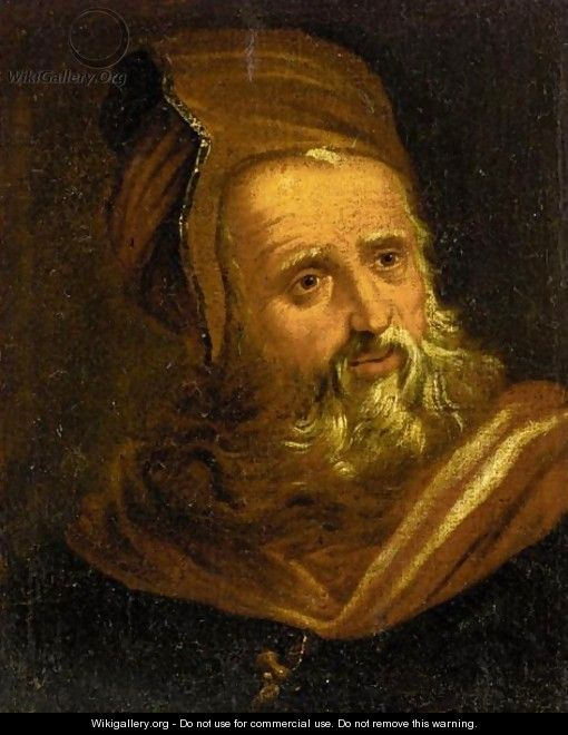 Portrait Of An Old Man, Head And Shoulders, In Oriental Dress - (after) Paolo Veronese (Caliari)