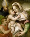 The Madonna And Child With The Infant Saint John The Baptist And A Male Saint - Bolognese School