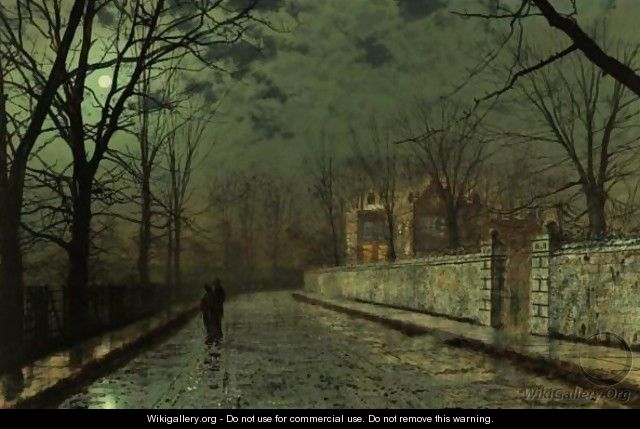 A Moonlit November Night - John Atkinson Grimshaw