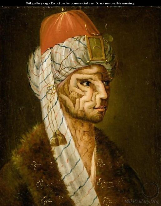 Anthropomorphic Head Of A Turk - (after) Giuseppe Arcimboldo
