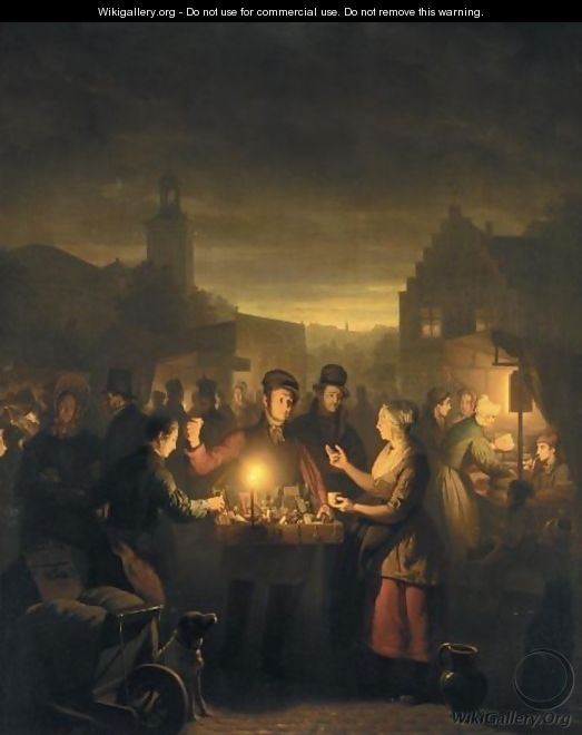 A Market By Moonlight 2 - Petrus Van Schendel