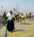 View Across The Galata Bridge, Constantinople - Fausto Zonaro