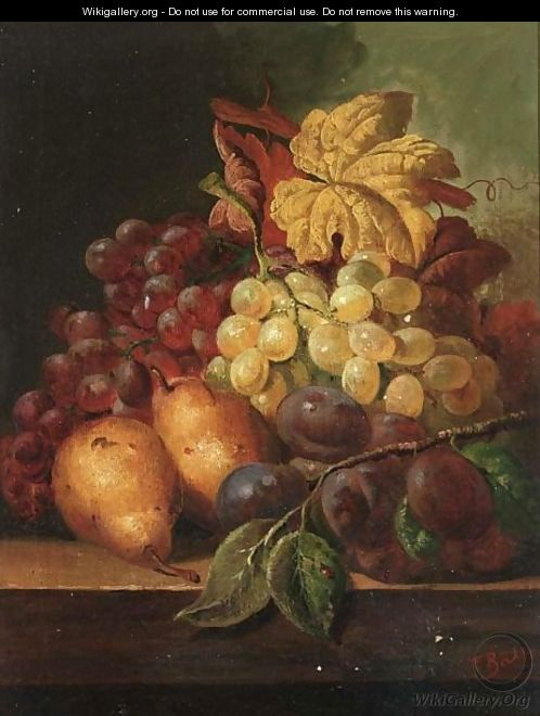 A Still Life With Grapes, Prunes And Pears - C.T. Bale