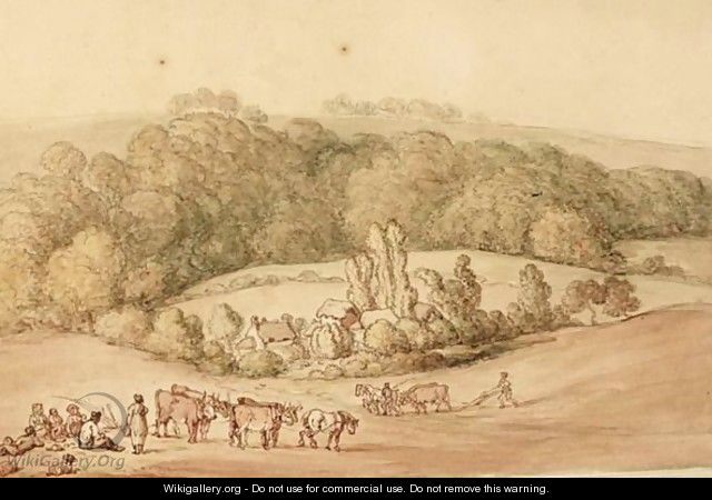 Ploughing The Fields - (after) Rowlandson, Thomas