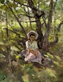Young Woman In The Dappled Shade - Russian School