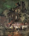 Parisian Street Corner By Night - Konstantin Alexeievitch Korovin