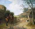 Daniel Beale At His Farm In Edmonton With His Favourite Horse - Jacques Laurent Agasse