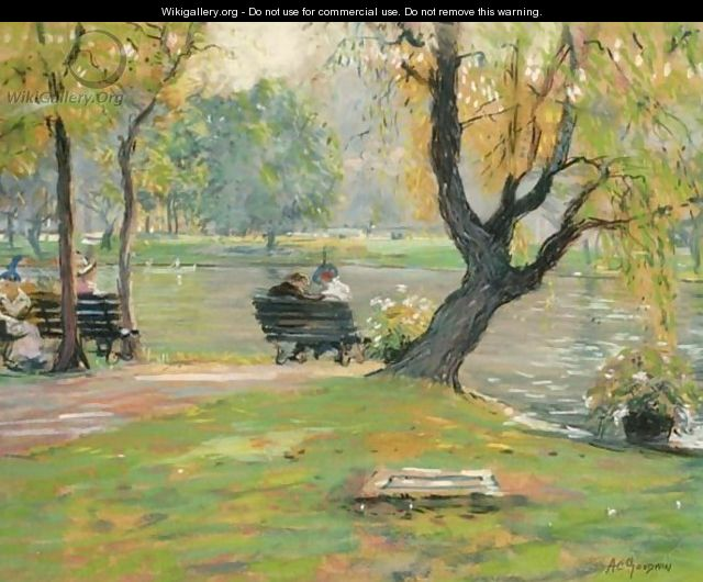 A Sunny Afternoon In The Park, Boston - Arthur C. Goodwin