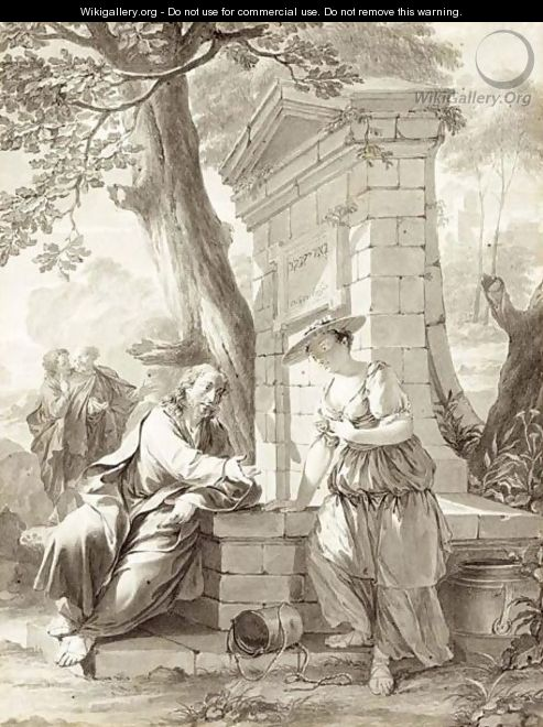Christ And The Woman Of Samaria At The Well - Nicolaes Verkolje