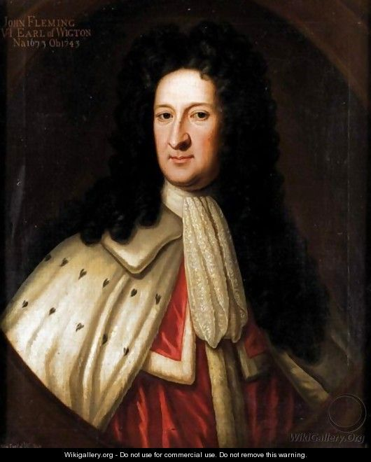 Portrait Of John Flemming, 6th Earl Of Wigton (1673-1743) - Sir John Baptist de Medina