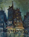 Street In Monmartre At Night - Konstantin Alexeievitch Korovin