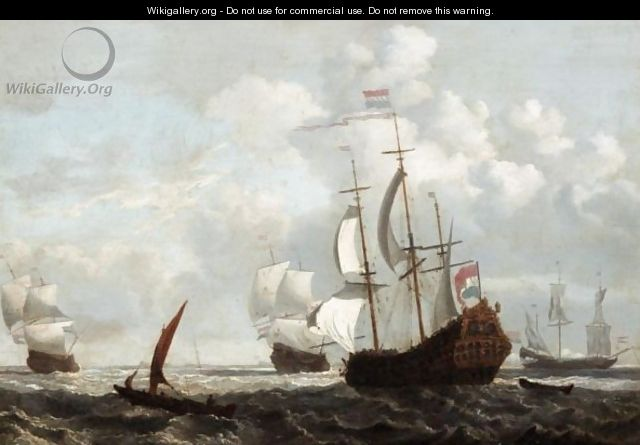 Dutch Shipping Fleet At Anchor - (after) Peter Monamy - WikiGallery