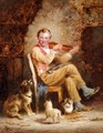 A Fiddler And His Audience - George Hepper