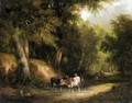 Cattle Watering - William Shayer, Snr