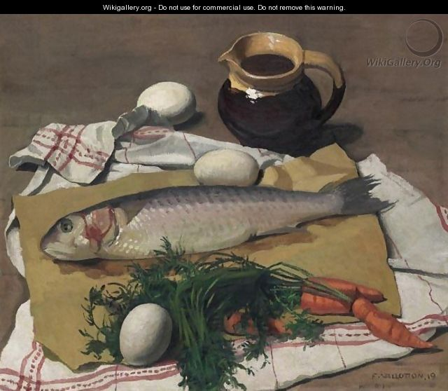 Mulet, Vegtables And Eggs, 1919 - Felix Edouard Vallotton