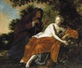 Vertumnus And Pomona - Adriaen Backer