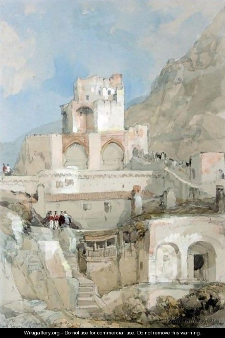 British Soldiers Before The Tower Of The Old Moorish Citadel In Gibraltar - David Roberts
