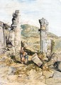 Figures By Classical Ruins On Mount Athos, Lycia - William James Muller