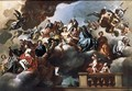Saints And Prophets In Glory With Putti - Francesco Solimena