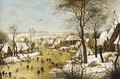 Winter Landscape With Skaters And A Bird-Trap - Pieter The Younger Brueghel