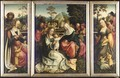 A Triptych Of The Holy Kinship - Master Of Frankfurt