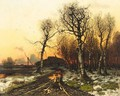 Winter Sunset - (after) Iulii Iul'evich (Julius) Klever