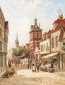 Dutch Street Scene - William Raymond Dommersen