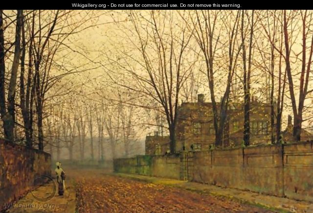 Late October At Ritson - John Atkinson Grimshaw