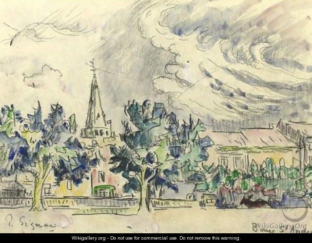 Bourg St. Andeol - Paul Signac