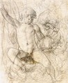 Study Of A Young Boy, Seated - Orazio Samacchini