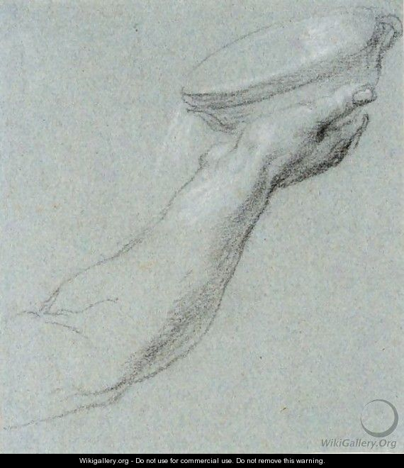 Study Of A Hand Holding A Bowl - Simone Peterzano