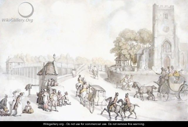 Putney Bridge From The South Side, London - Thomas Rowlandson