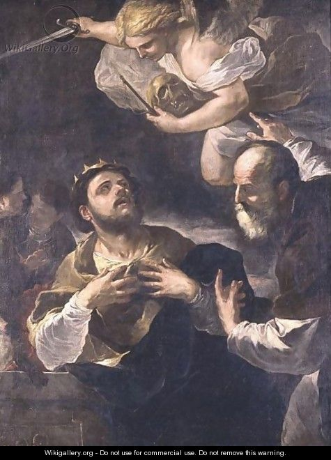 The Prophet Gad Offering King David The Choice Of Three Punishments Famine, Civil War Or Plague - Luca Giordano