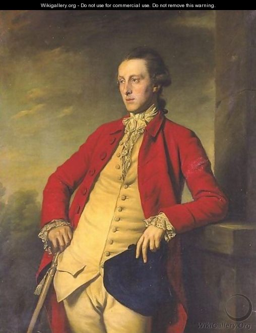 Portrait Of Sir John Weyland (1744 - 1825), Three Quarter Length In A Red Coat, A Buff Waistcoat Holding A Tricorn Hat - Sir Nathaniel Dance-Holland