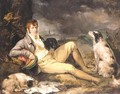 Portrait Of A Gentleman With Two Spaniels - (after) Ramsay Richard Reinagle
