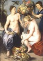 Nymphs Filling The Horn Of Plenty - (after) Sir Peter Paul Rubens