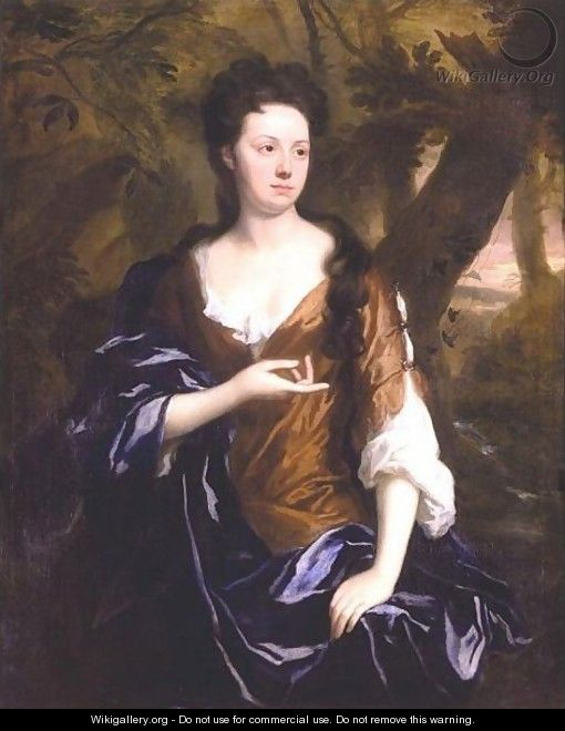 Portrait Of Mrs. Fisher Of Packington, Warwick - Sir Godfrey Kneller